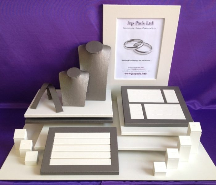 Contemporary Wedding Ring Display Set